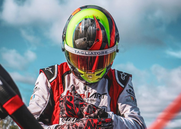 Alex Irlando in Lonato for the FIA Karting KZ World Championship