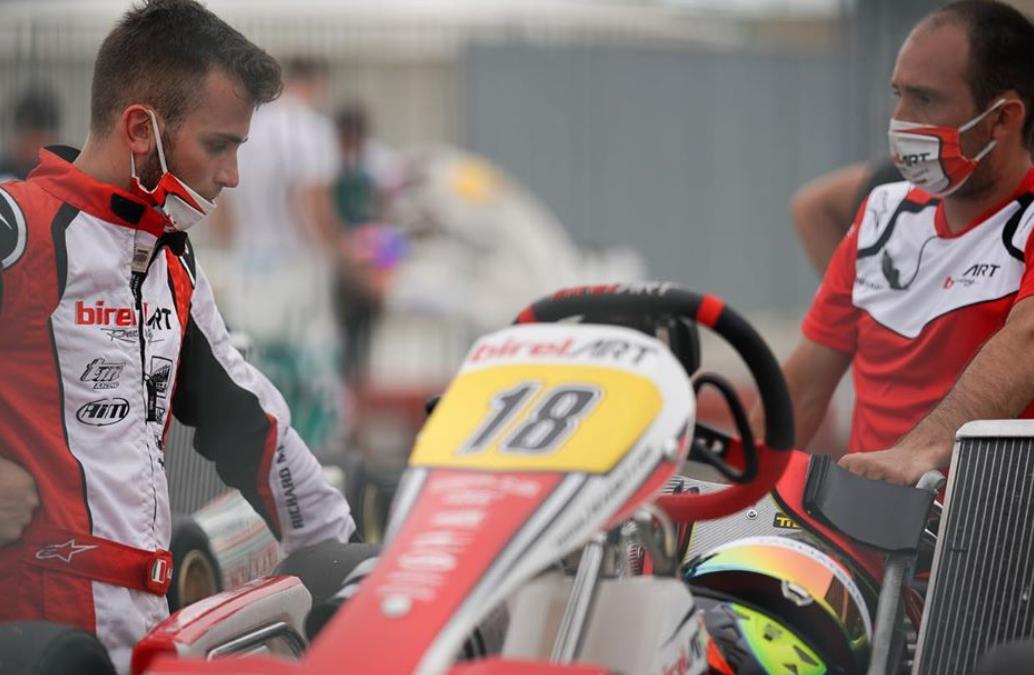Alex Irlando is back on track after a short break