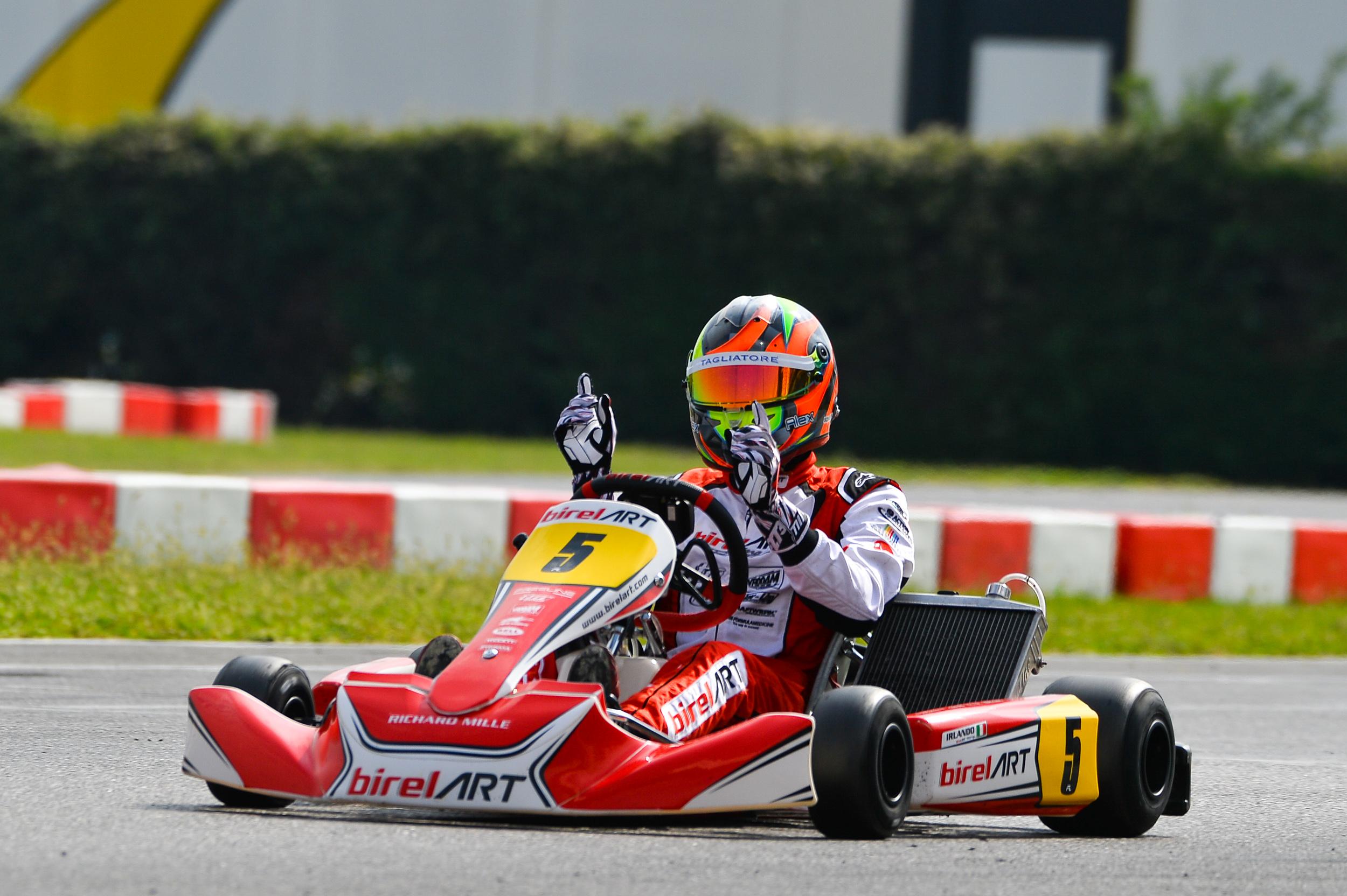 Alex Irlando wins in the Euro Series WSK weekend